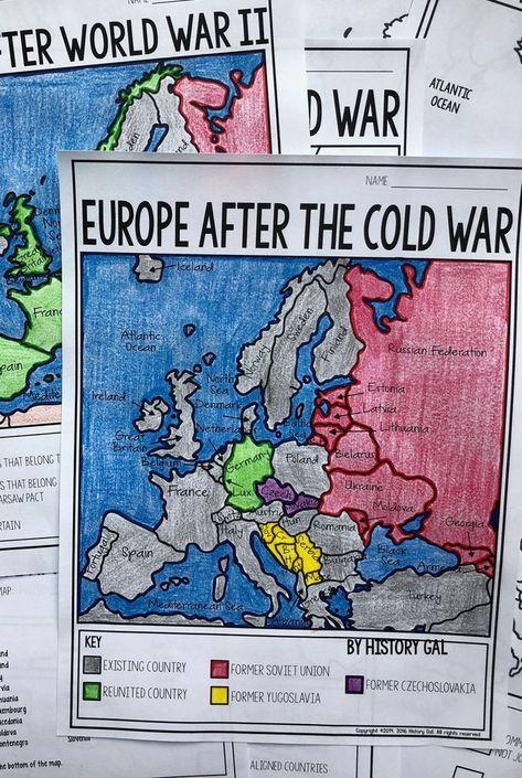World War I (World War 1) 1914 and 1918 Europe Maps | Teaching World ...