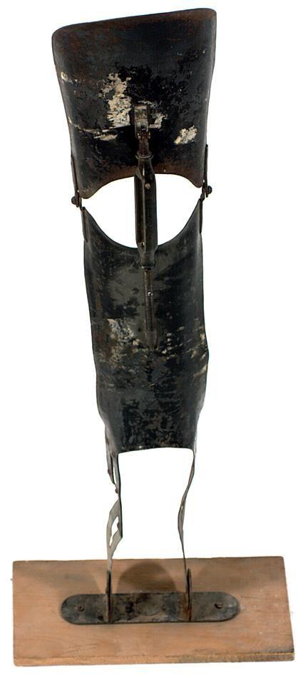 Leg Brace - Steel, Circa 1920