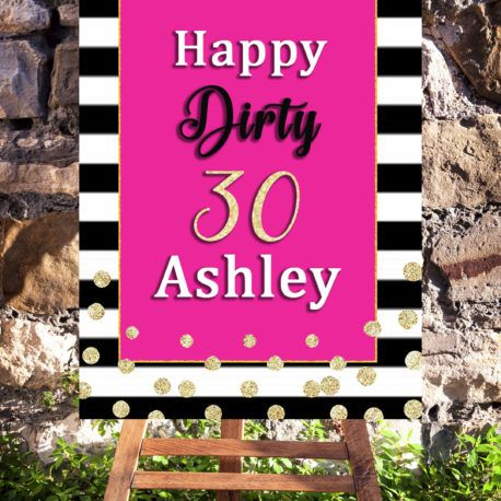 30th Birthday Party Printable Decorations Welcome Sign