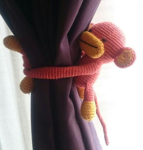 Canım Anne - Amigurumi perde tutucu maymun ve maymun... | Facebook | 495x474