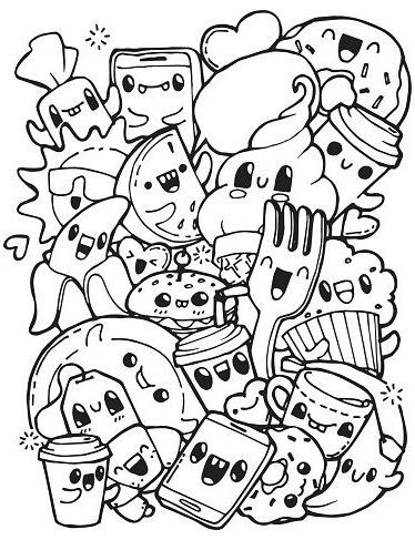 Dining Doodles Breakfast Lunch Dinner Food Coloring Pages For Graffiti Coloring Pages Cute Coloring Pages Food Coloring Pages Tumblr Coloring Pages