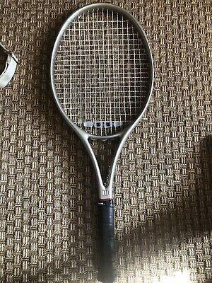 Advertisement Ebay Nice Vintage Wilson Profile 2 7si 110 Oversize Os Widebody Tennis Racquet 4 3 8 In 2020 Tennis Racquets Racquet Sports