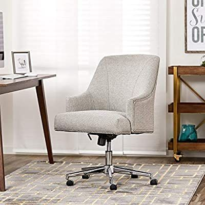 Amazon Com Serta Leighton Home Office Chair With Memory Foam Height Adjustable Desk Accent Chair With Ch In 2020 Home Office Chairs Adjustable Height Desk Home Decor