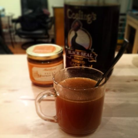 Hot pumpkin buttered rum by @Megan Murphy