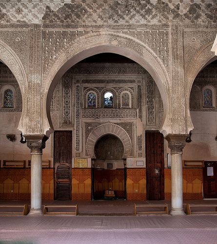 Inside the Medersa Bouanania, Medina, Fez, Morocco