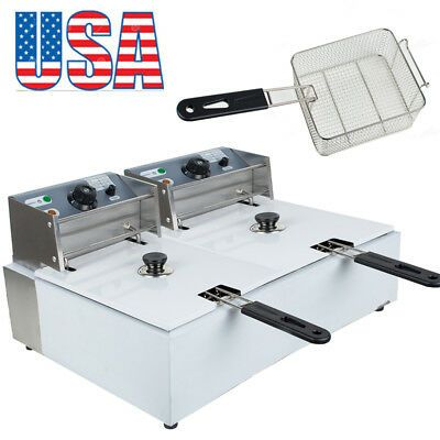 Ad Ebay 16l Electric Countertop Deep Fryer Dual Tank Commercial Restaurant Usa In 2020 Kitchen Appliances Restaurant Food Service