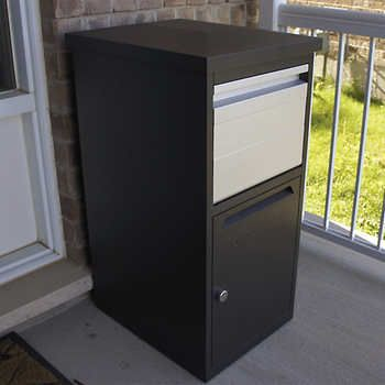 Parcelwirx Secure Parcel Chute With Access Door Delivery Dropbox Home Accents Drop Box Ideas Parcel Box