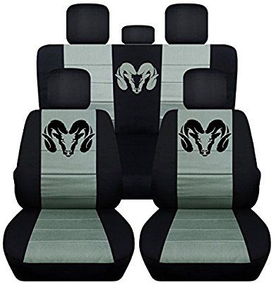 Amazon Com Fits 2012 To 2017 Dodge Ram Front And Rear Ram Seat Covers 22 Color Options Solid Rear Benc Dodge Ram 1500 Accessories Dodge Accessories Dodge Ram