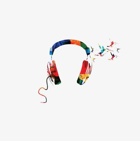 Headphones Hummingbird Background