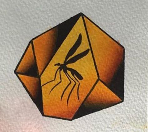 Draw Dinosaurs Jurassic park mosquito in amber drawing