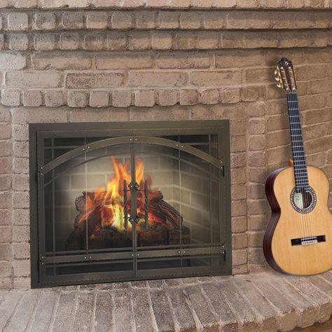 Madrid Masonry Door For Wood Burning Masonry Fireplaces Fireplace Glass Doors Fireplace Doors Masonry Fireplace