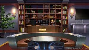 The Office By Vui Huynh Cenario Anime Casas Abandonadas Fundo