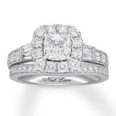 Neil Lane Diamond Bridal Set 2 1 2 Ct Tw 14k White Gold Diamond