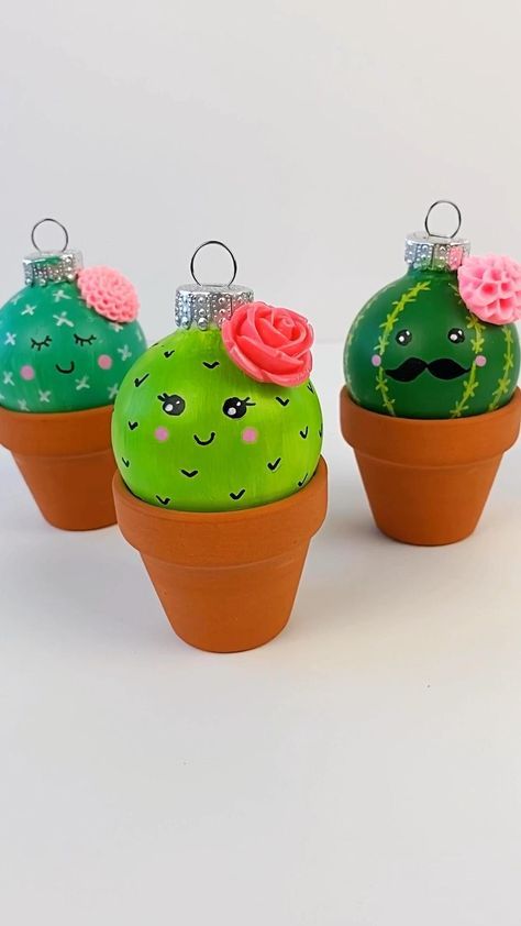 Cactus Ornament Craft for Christmas • Color Made Happy