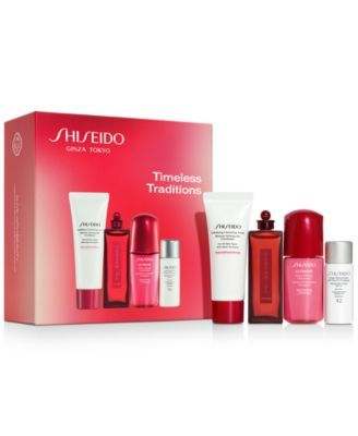 Shiseido 4 Pc Timeless Traditions Set Reviews Beauty Gift Sets Beauty Macy S In 2020 Shiseido Beauty Gift Sets Skin Protection