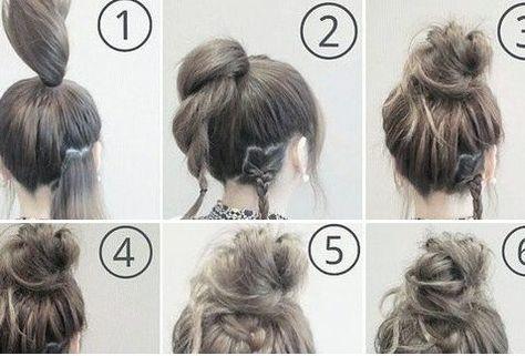 How To Do A Messy Bun Step By Step Top Knot Simple 26 Ideas Hair Bun Tutorial Easy Messy Bun High Bun Hairstyles
