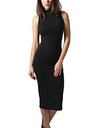 URBAN CLASSICS Damen Kleid Stretch Jersey Turtleneck Dress