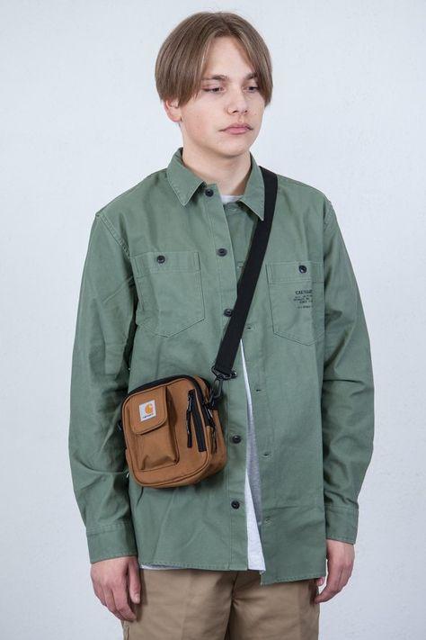 carhartt brun skjorte