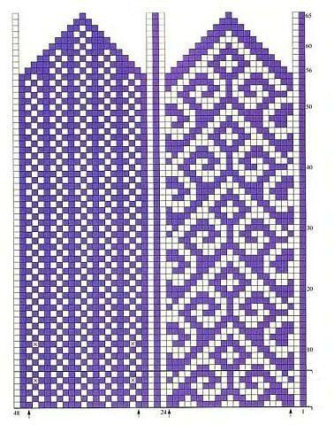 turkish pattern mittens: knitting tutorial - crafts ideas - crafts for kids Knitting Charts, Knitting Stitches, Free Knitting, Knitting Patterns, Hat Patterns, Knitted Mittens Pattern, Knit Mittens, Knitting Socks, Fingerless Mittens