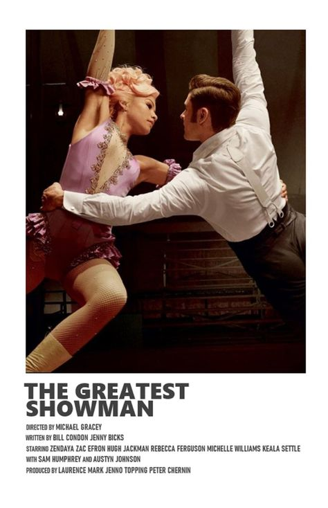 The Greatest Showman minimal A6 movie poster