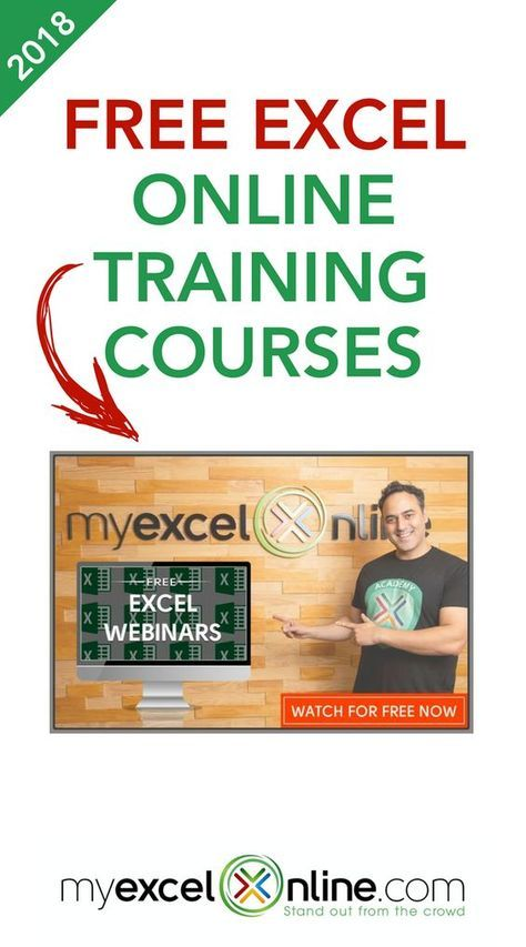 Free Excel Online Training Courses Myexcelonline Online Training Courses Excel Tutorials Microsoft Excel Tutorial