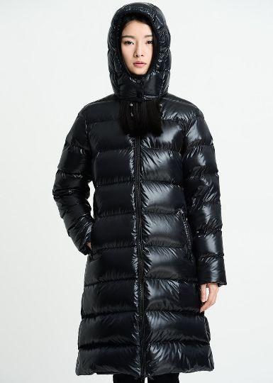 Womens Winter Hooded Shiny Down Coat Loose Long Puffer