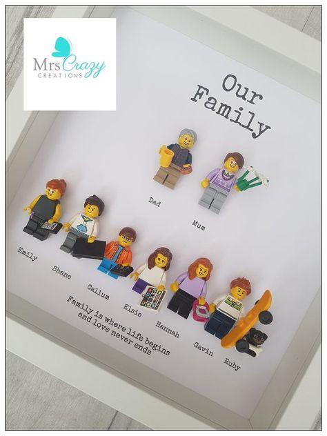 Personalised lego family frame   Etsy