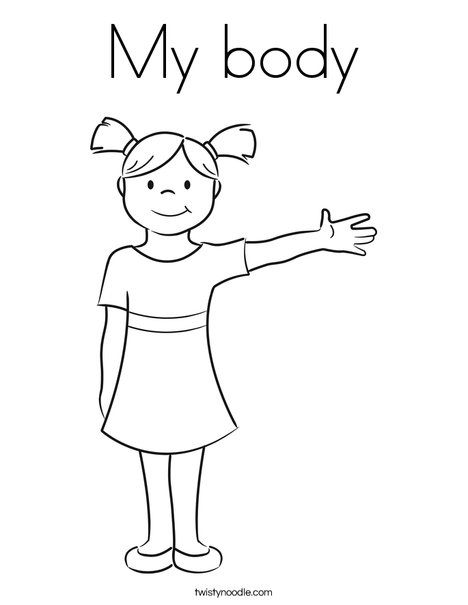 My Body Coloring Page Twisty Noodle Coloring Pages Coloring