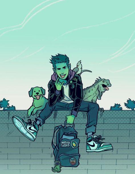 Beast Boy by gabriel picolo Teen Titans Raven, Teen Titans Go, Teen Titans Fanart, Beast Boy Raven, Personnage Dc Comics, Gotham, Gabriel Picolo, Original Teen Titans, Arte Dc Comics