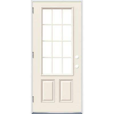 Premium 12 Lite Primed Steel Prehung Front Door Front Door Exterior Doors Single Doors