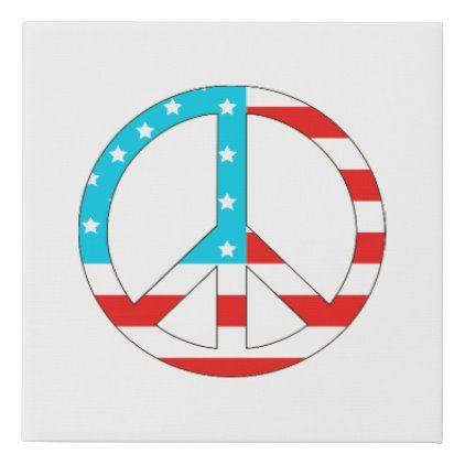 American Flag Peace Sign Zazzle Com In 2020 Peace Peace Sign American Flag