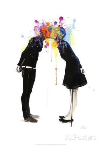 Big Bang Kiss Poster von Lora Zombie bei AllPosters.de