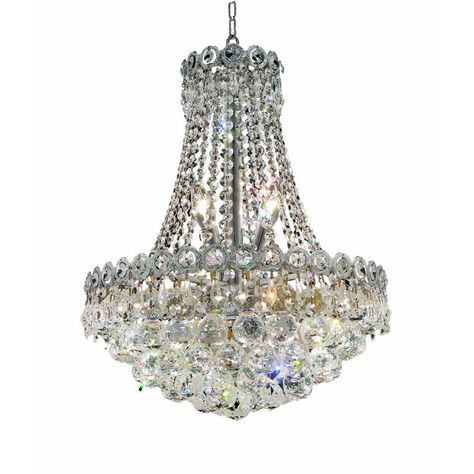 Classic Crystal Chandeliers Lighting The Home Depot