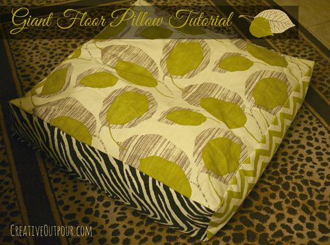 Newly Finished Cushion Pinable Pillow Tutorial Giant Floor Pillows Diy Pillows