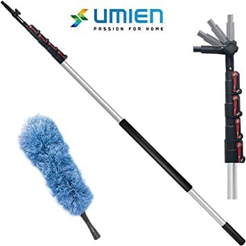 Amazon Com 6 24 Foot Telescopic Extension Pole Multi Functional Pole Paint Roller Light Bulb Changer Duster In 2020 Hanging Lights Cleaning Gutters Paint Roller