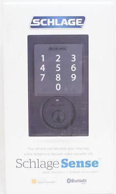Door Locks And Lock Mechanisms 180966 Schlage Sense Smart Deadbolt With Century Trim In Matte Black Be479 Cen 622 Buy It Smart Deadbolt Deadbolt Schlage