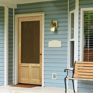 Titan Security Doors Meshtec Aluminum Screen Door Wayfair In 2020 Wood Exterior Door Diy Screen Door Painted Screen Doors