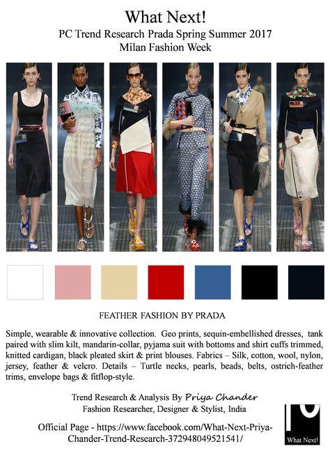 #Prada #MiucciaPrada #SS17 #priyachander #FitFlopstyle #Americandirector #DavidORussell #Mandarincollar #silk #pyjama #Milanfashionweek #MFW #Spring2017 #fashionista #runway #fashionorward #pradass17 #womenswear #ostrichfeather #feathertrim #fashionindustry #fashionweek #fashionnews #whatnextpctrendresearch #fashionresearch #fashionforecast #geoprints #slimkilt #Milan #turtleneck #sequins #embellishment #black #midiskirts #Vogue #fashion #fashiondesigne