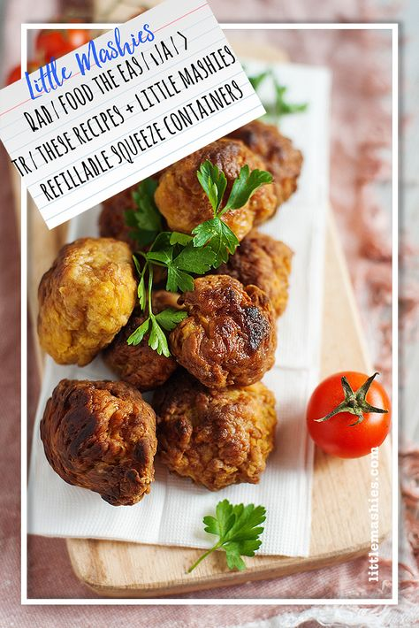 Little Mashies Apricot Chicken Meatballs Baby Food The Easy Way
