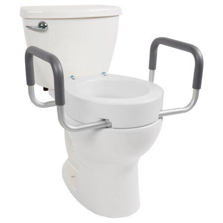 Toilet Seat Riser Raised Toilet Seat With Handles For Handicapped Medical Handicap Bathroom Elevated Toilet Seat Toilet Seat Handicap Bathroom Toilet
