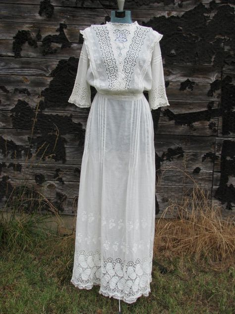 Early 1900s Wedding Dresses Vintage Early 1900s Victorian Lace