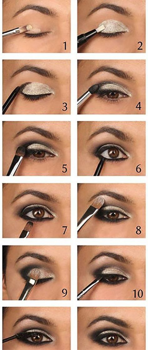How To Do Smokey Eye Makeup Top 10 Tutorial Pictures For 2019 Silver Smokey Eye Smokey Eye Makeup Eye Makeup Tips