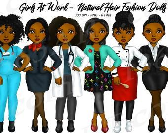 Military Woman Clipart Army Natural Hair Independence Etsy Fashion Clipart Hair Clipart Girl Clipart