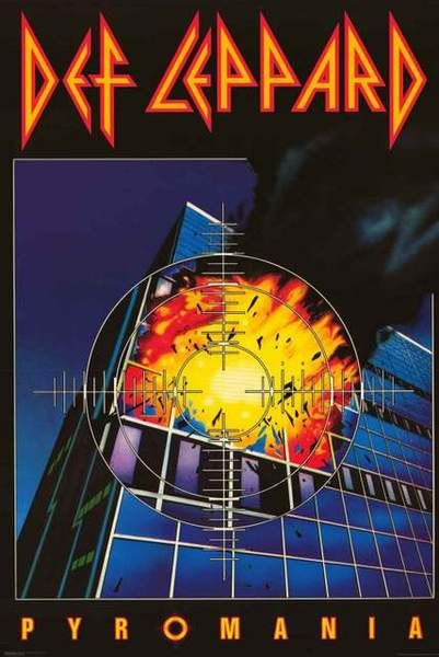 Def Leppard Pyromania Album Cover Poster 24x36 | Metal Art