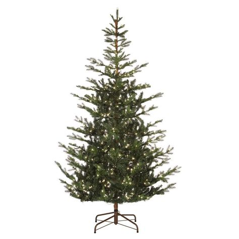Martha Stewart Living 7 5 Ft Pre Lit Feel Real Spruce Artificial Christmas Tree With 500 Clear Lights Artificial Christmas Tree Christmas Tree Black Box