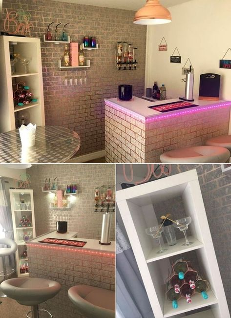 Woman Transforms Spare Bedroom into Ultimate Home Bar for Herself - Carla Lister from Rochdale, Manchester has transformed her spare bedroom into a woman cave featurin - Girl Cave, Babe Cave, Woman Cave, Self Build Houses, Hangout Room, Chill Room, Den Ideas, Room Ideas, Home Office Decor