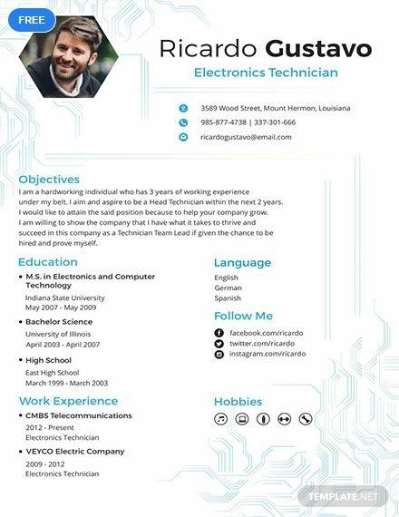 8 Electronics Technician Resume Penn Working Papers Awesome 8 Electronics Technician Resume Penn Working Papers Aer Electronic Technician Resume Job Resume
