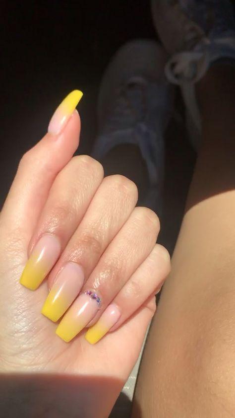 yellow obre nails 💛