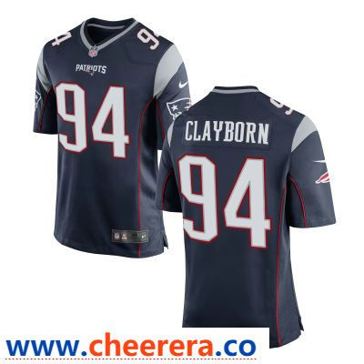 Men S New England Patriots 94 Adrian Clayborn Navy Blue Team Color Stitched Nfl Nike Game Jersey Jersey Jersey Patriots Nfl Jerseys