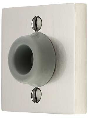 Wall Mount Door Stop With Square Rosette And Rubber Bumper In 2020 Rubber Bumper Door Stop Wall Mount